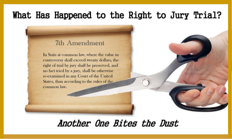 Lawyers Took Away Your Right to Civil Jury Trial and Now Every Law Suit Can be Rigged…Its All Fake