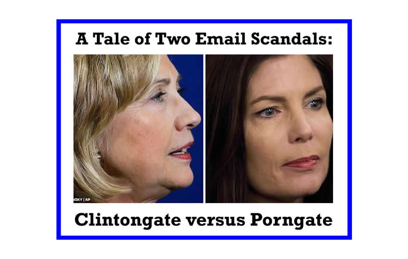 Clintongate versus Porngate:   A Tale of Two Email Scandals That Just Doesn't Add Up