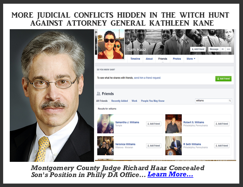 Montgomery Co. Judge Richard Haaz Fails to Disclose Conflict on Panel Against AG Kane